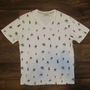 Akoo White T Shirt Size L Short Sleeve